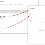 cutomize your invoice like a standard wordpress page