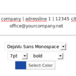 new pdf invoice footer configuration