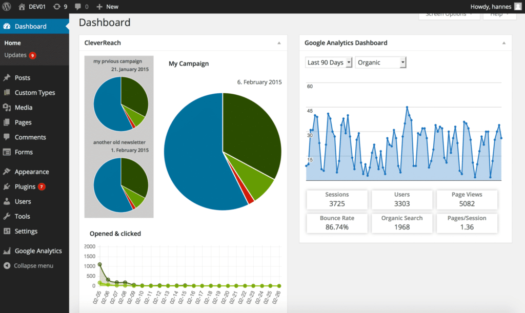 dashboard-with-google-analytics
