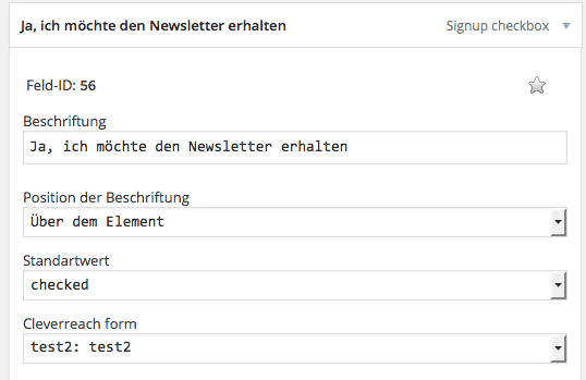 signup checkbox