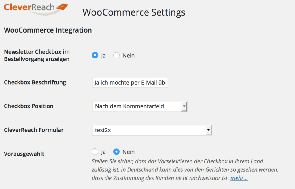 cleverreach-woocommerce-configuration