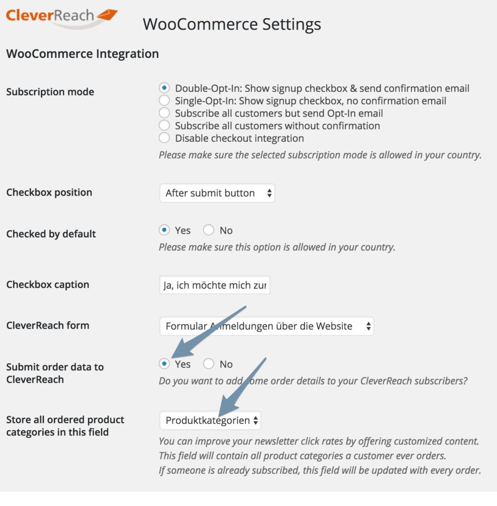cleverreach-woocommerce-einstellungen